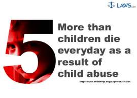 Five Children Die Every Day As a Result of Child Abuse